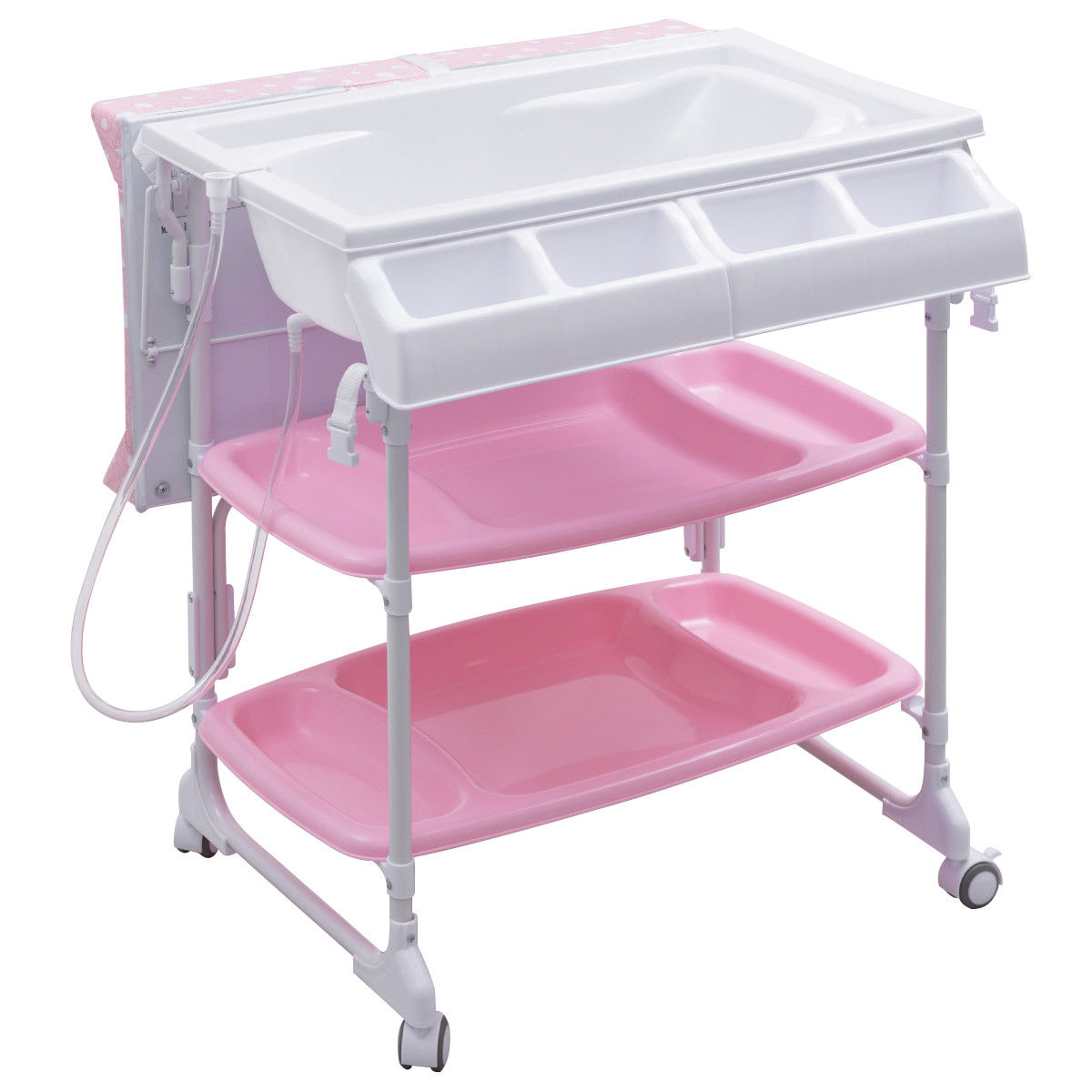 Costway Baby Infant Changing Table Diaper Station Organizer Storage w/ Tube - image 2 de 10