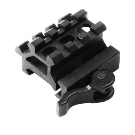 Leapers, Inc. UTG Double Picatinny Rail with 3-Slot Angle Mount, Quick Release, - Double Release