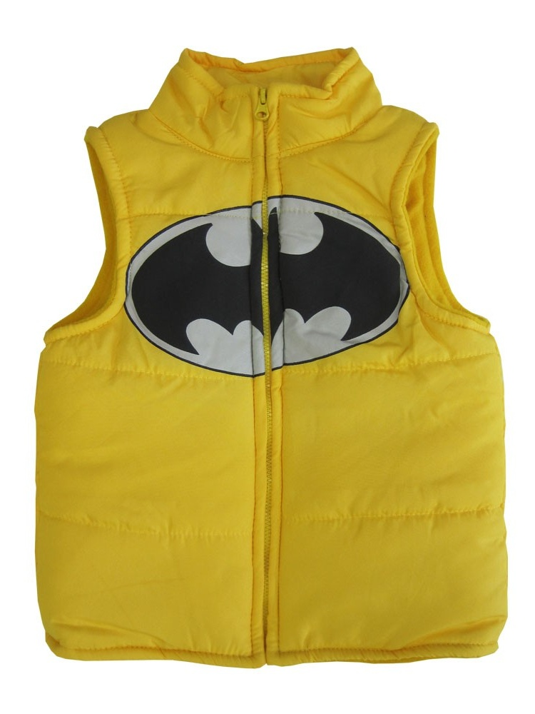 DC Comics Little Boys Yellow Batman Logo Design Sleeveless Vest 2-4T