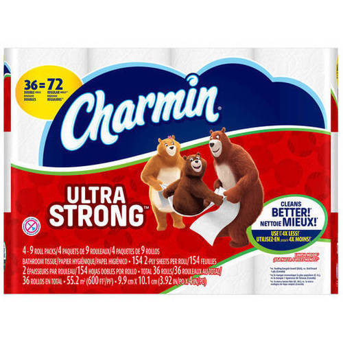 Charmin Ultra Strong Toilet Tissue, 36 Double Rolls