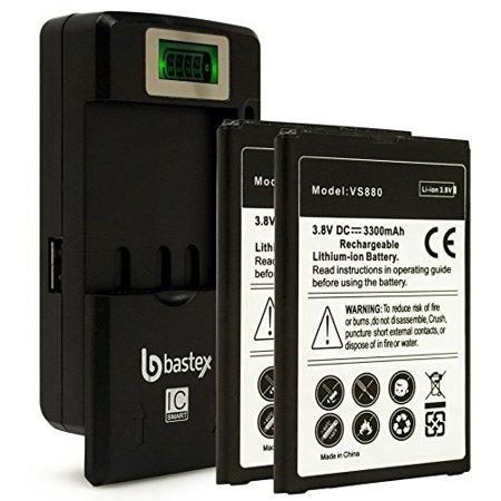 Two 2pk Bastex Replacement Battery Lg G Vista 4g Vs880 Verizon