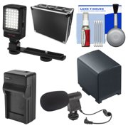 Essentials Bundle for Canon Vixia HF G20, G30, G40 Camcorder with Case + LED Light & Bracket + Mic + BP-820 Battery & Charger + Accessory Kit