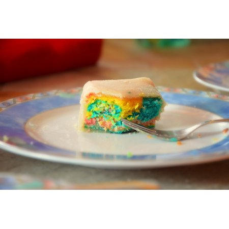 LAMINATED POSTER Sweet Cake Baked Rainbow Birthday Colorful Poster Print 24 X 36
