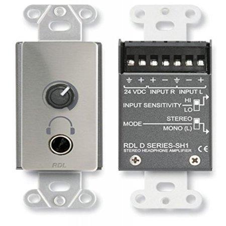 RDL DS-SH1 Stereo Headphone Amplifier-Decora; panel w/user level