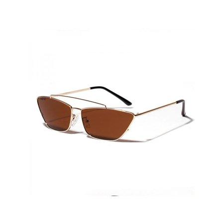 MAXSUN Vintage Sunglasses Women Rectangle Frame Ocean Lens (Oceano Sunglasses)