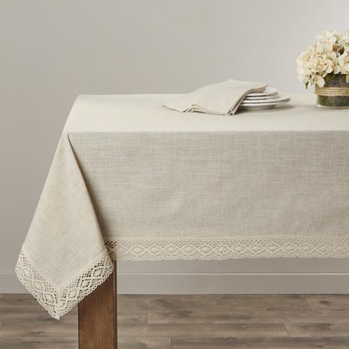 Saro Lace Border Tablecloth