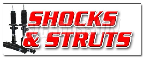"24/"" Shocks /& Struts Sticker Auto Repair Shop Outdoor Decal Sign"
