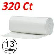 Wideskall 13 Gallon Kitchen Garbage Trash Bag Transparent - 320 Bags