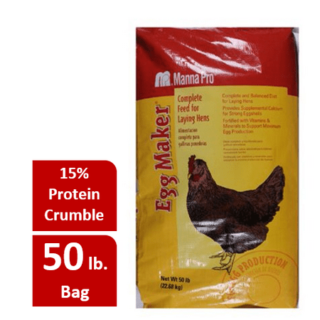 Manna Pro Horse Feed (Manna Pro Family Farm® Egg Maker 15% Layer Crumbles Chicken Feed, 50 lbs.)