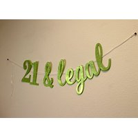 All About DetailsTM 21 & Legal Cursive Banner (Lime Green)
