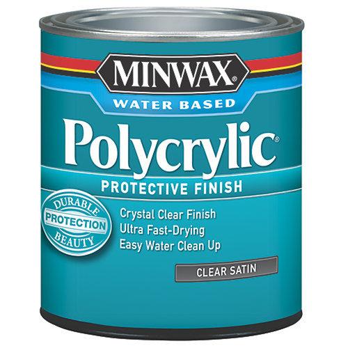 Minwax Polycrylic Protection Finish, Half Pint, Satin