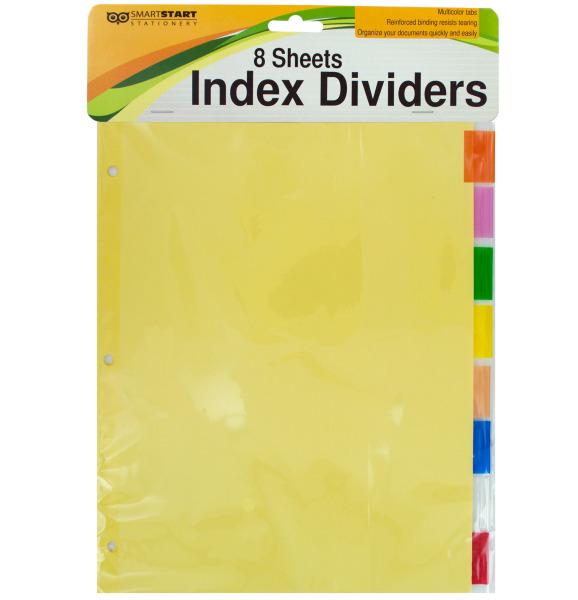 Index Dividers With Multicolor Tabs (Pack Of 24)