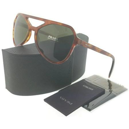 Prada PR22RS-4BWAJ1 Men's Light Havana Frame Green Lens Genuine Sunglasses (Havana Green)