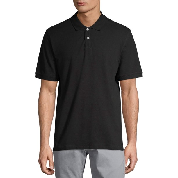 George Men's and Big Men's Stretch Pique Polo Shirt, Up to Size 5XL
