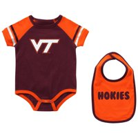 Virginia Tech Hokies Colosseum Newborn & Infant Warner Bib & Bodysuit Set - Maroon