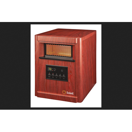 Soleil Electric Infrared Heater Thermostat Brown Walmart Com