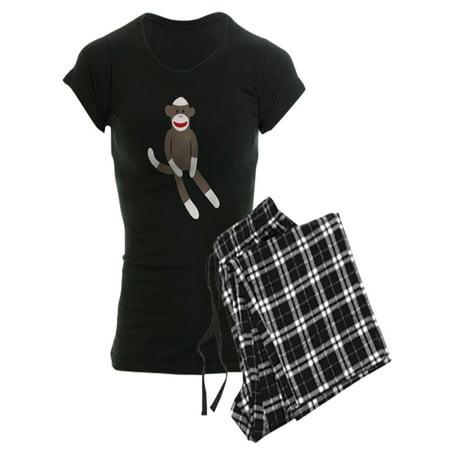 CafePress - Sock Monkey - Women's Dark Pajamas - Adult Sock Monkey Pajamas