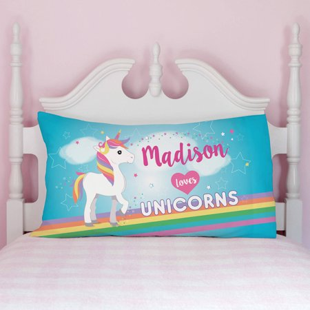 Personalized Printed Pillowcase (Personalized Pillowcases for Kids - Unicorn, Sports, Owl or Fire Truck )