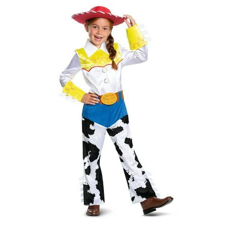 Girls Jessie Costume (Disguise Jessie Deluxe Girls Costume,)