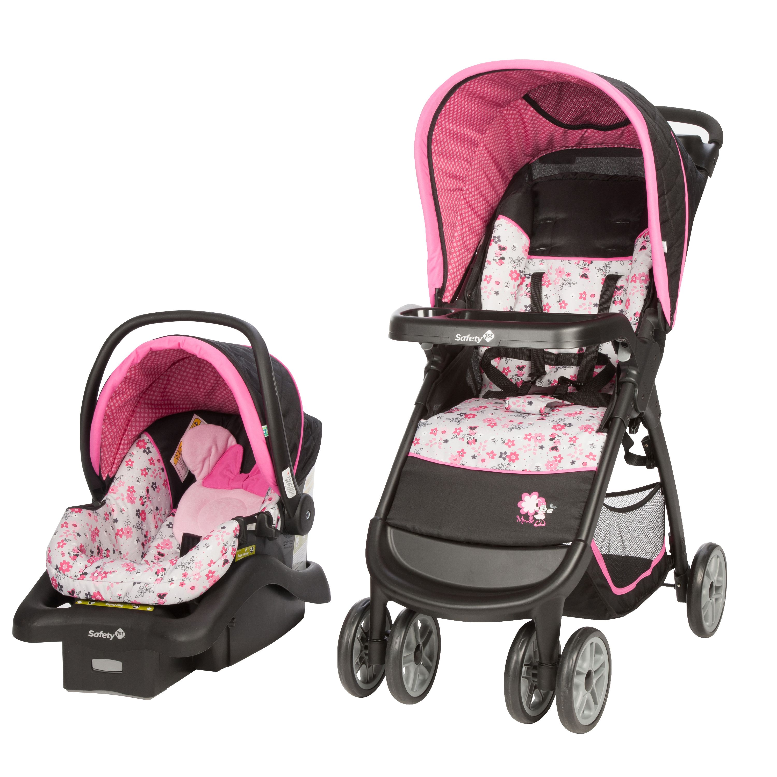 Disney Baby Amble Quad Travel System, Minnie Garden Delight