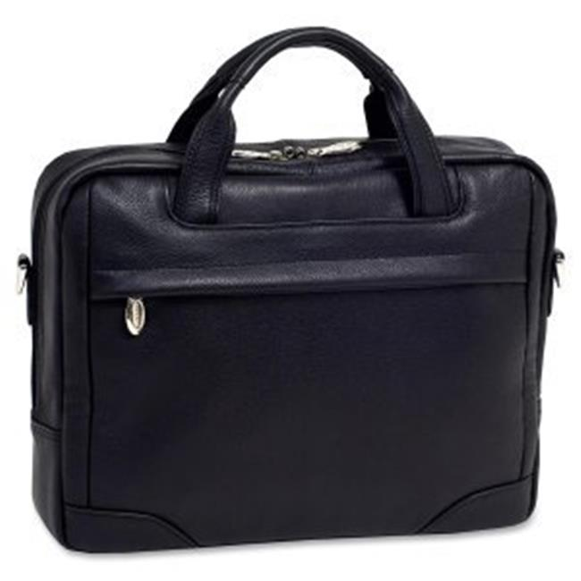 McKlein 15475 Black Bridgeport Large Laptop Briefcase