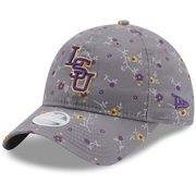 LSU Tigers New Era Girls Youth Blossom 9TWENTY Adjustable Hat - Gray - OSFA