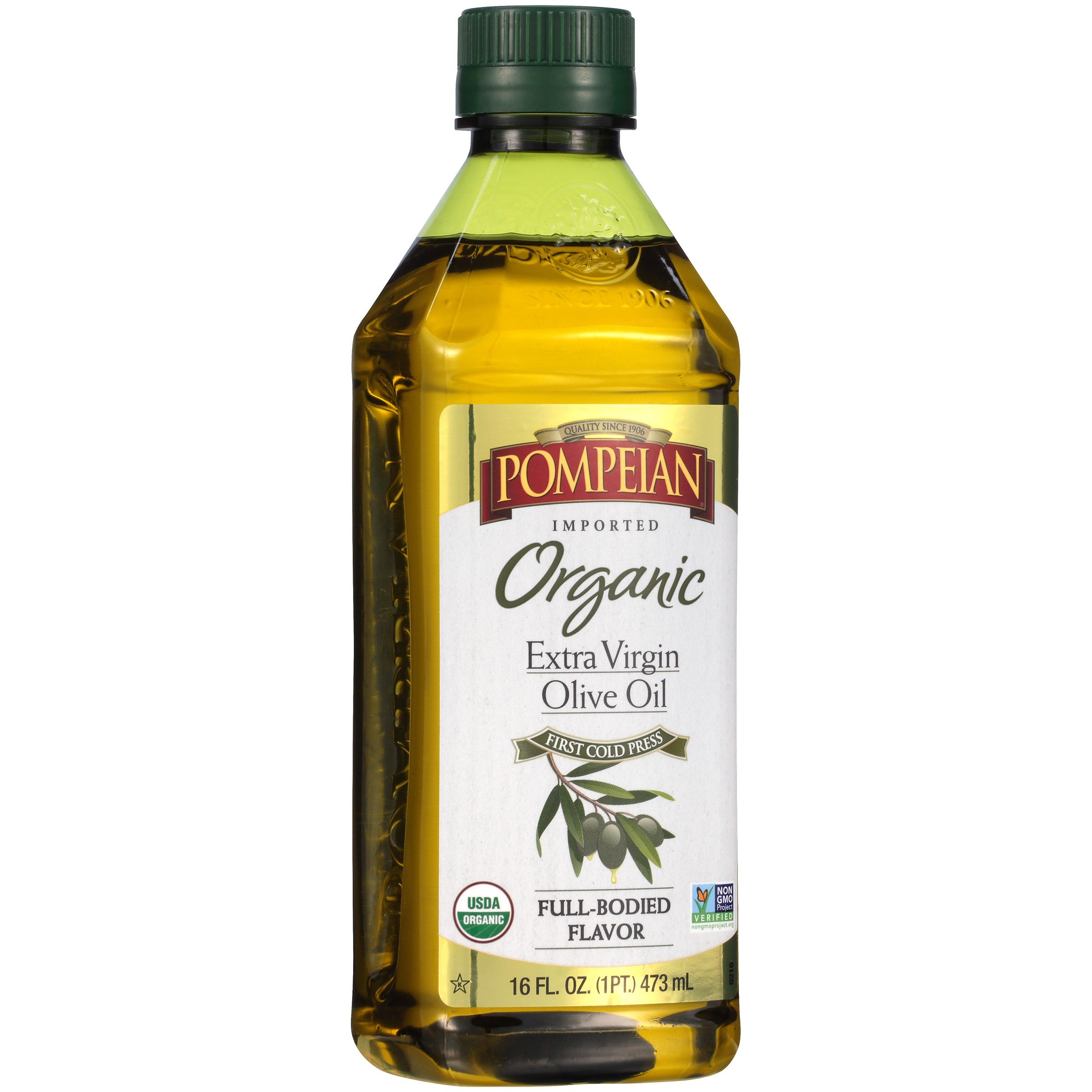 Pompeian Organic Extra Virgin Olive Oil, 16 Oz