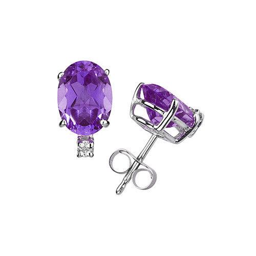 Szul Jewelry Oval Cut Gemstone Stud Earrings