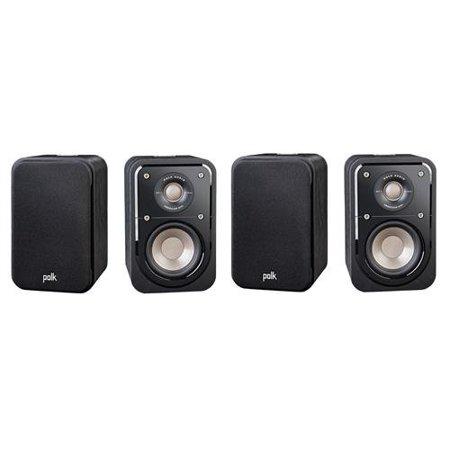 Polk Audio 2 Pairs Signature Series S10 2-Way American HiFi Home Theater Compact Satellite Surround Speaker, (4 speakers)