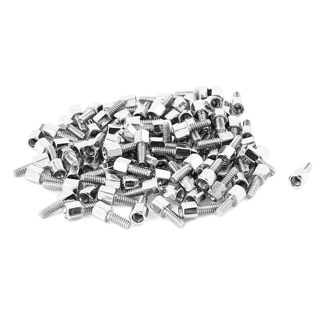 """100pcs # 4-40 0.197"""" + 0.276""""tête hexagonale vis à métal dur plaqué nickel - image 1 de 1"""