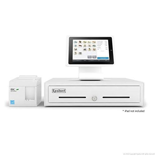 Star Micronics SQUARE POS HARDWARE BUNDLE TSP143IIU 39464011 USB Printer and Cash Drawer 16 by 16 5 Bill 8 Coin