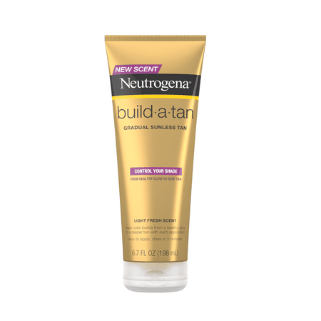 Neutrogena Build-A-Tan Gradual Sunless Tanning Lotion, 6.7 fl. oz Tinted Self Tanning Cream