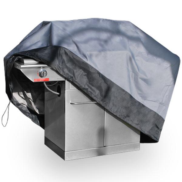 "Premium Waterproof Barbeque BBQ Grill Cover Medium 59"" Length Dark Grey with Black... by KapscoMoto"