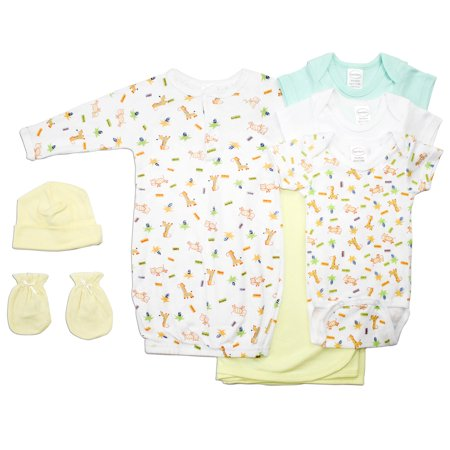 463995bf5 Bambini - Neutral Newborn Baby 7 Pc Layette Baby Shower Gift Set ...