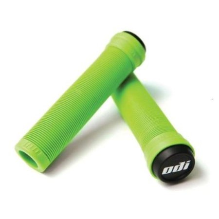 ODI Soft Flangeless Longneck Grips Softies For Bikes And Scooters GREEN