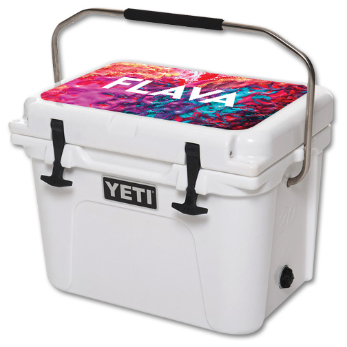 Skin For YETI Roadie 20 qt Cooler Lid – Flava | MightySkins Protective, Durable, and Unique Vinyl Decal wrap cover | Easy To Apply, Remove, and Change Styles | Made in the USA