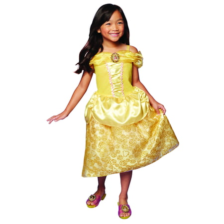 Disney Princess Belle Dress Costume Perfect for Party, Halloween Or Pretend Play For Girls Ages 3+