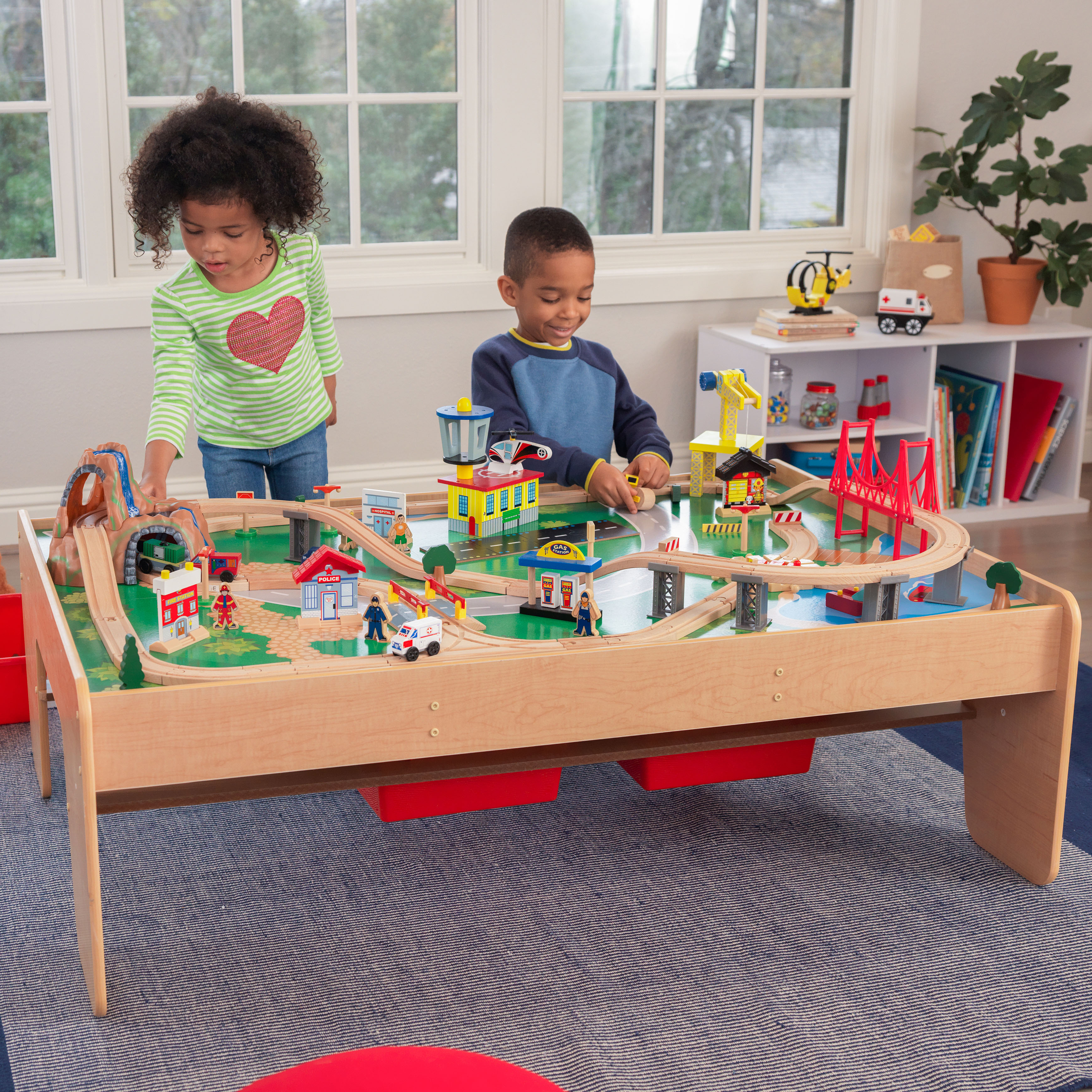 KidKraft Waterfall Mountain Train Set & Table with 120 accessories included by KidKraft