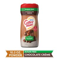 COFFEE MATE Sugar Free Chocolate Crème Powder Coffee Creamer 10.2 Oz. Canister (3 Pack)