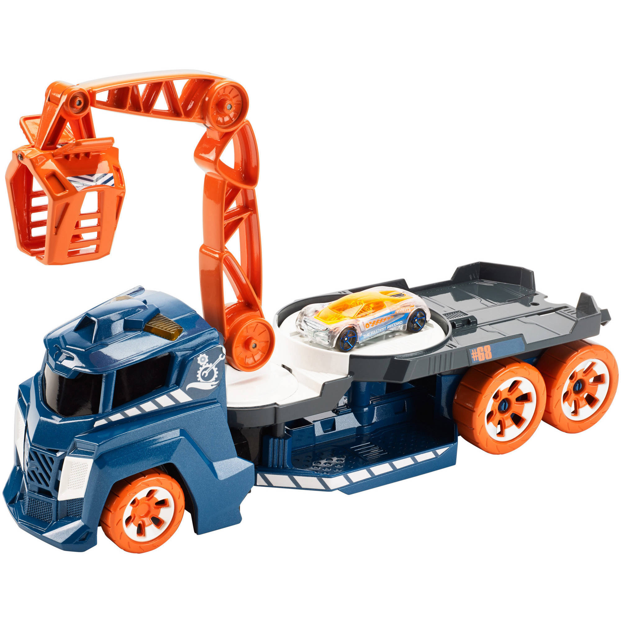 Hot Wheels Spinnin' Sound Crane Vehicle