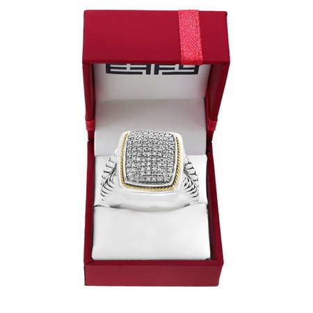 Effy 925 Sterling Silver, Diamond & 14K Yellow Gold Ring - Ring Bearer Clothing