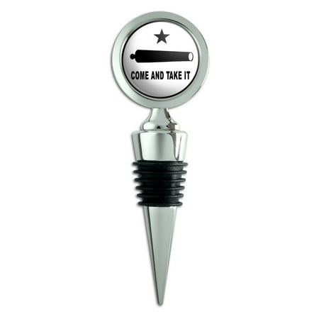 Come and Take It Texas Flag Revolt Wine Bottle Stopper (Texas Wine Stopper)