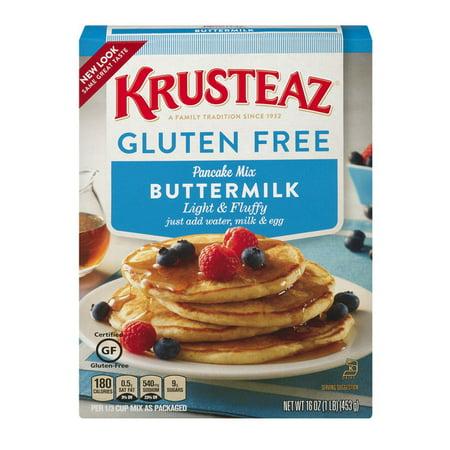 Krusteaz Gluten Free Buttermilk Pancake Mix, 16-Ounce -