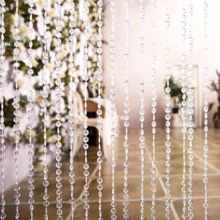 - Efavormart PRINCESS-Style Endless Diamond Curtain Backdrops 8ft x 3ft Clear Diamonds w/ Metal Rod Top