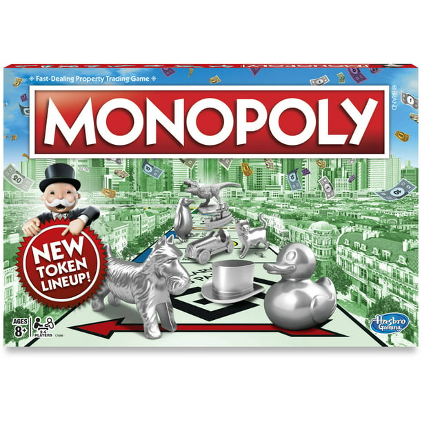 Monopoly Game, for Kids Ages 8 and Up, for 2-8 Players