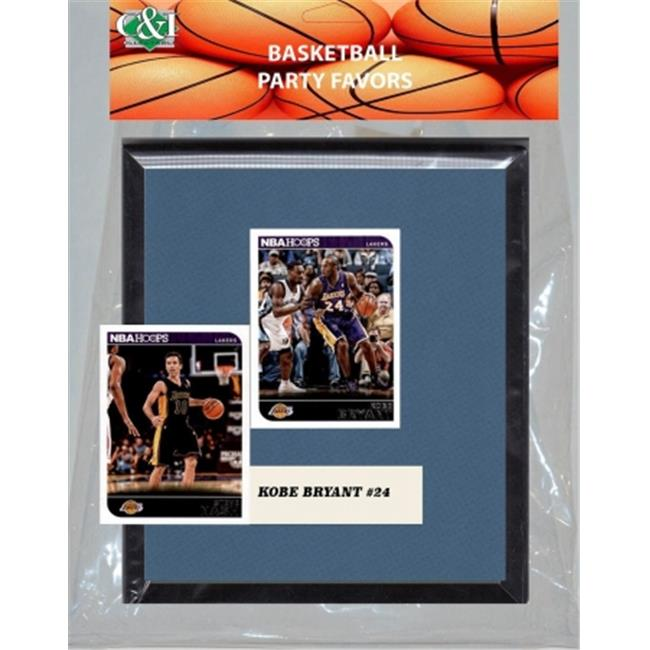 Candlcollectables 67LBLAKERS NBA LA Lakers Party Favor With 6 x 7 Mat and Frame