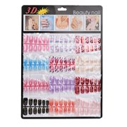 Womail 144pcs Mixed Set False Nail Tips Artificial Fake Nails Art Acrylic Manicure Gel