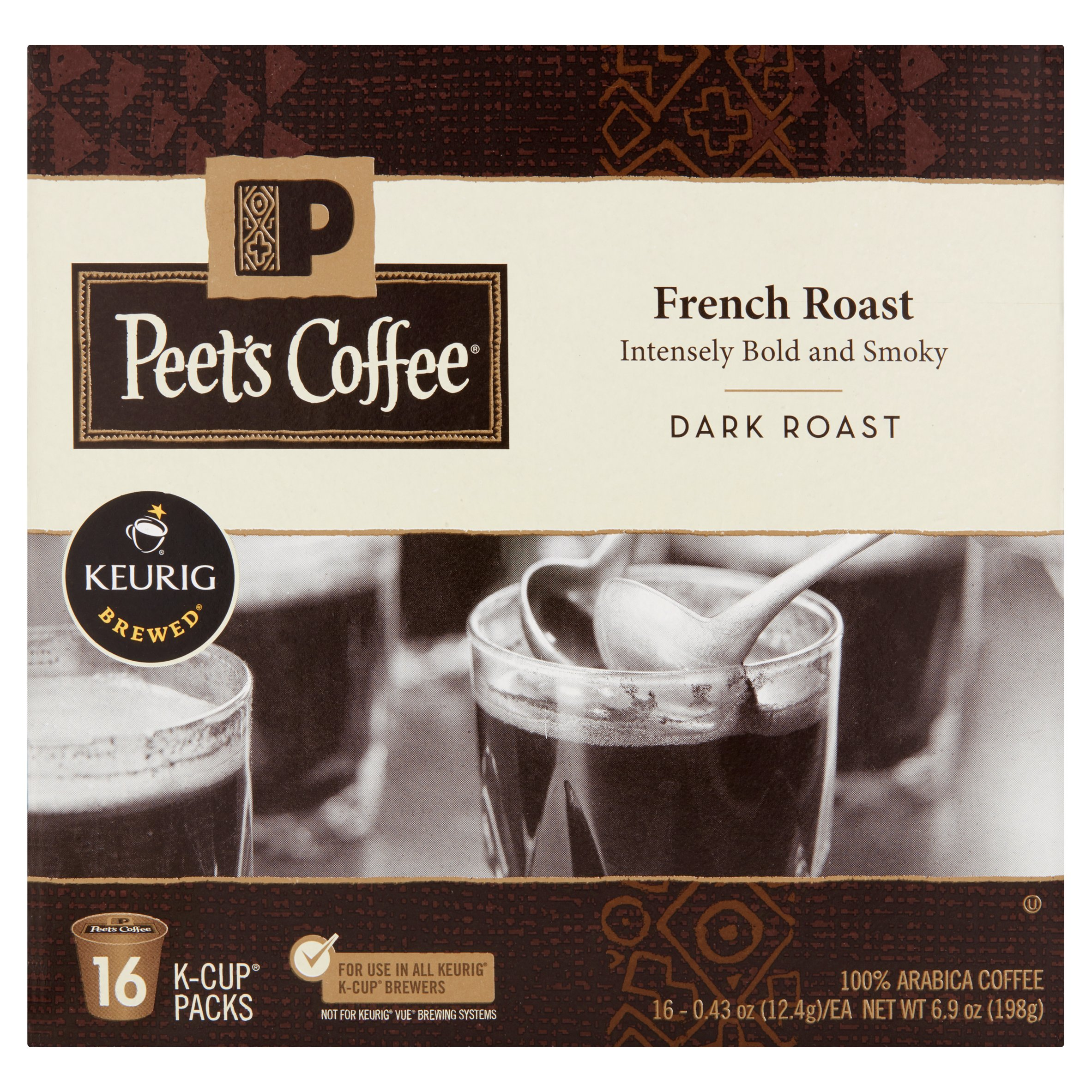 Keurig Brewed Peet's Coffee French Roast 100% Arabica Coffee, 0.43 oz, 16 count