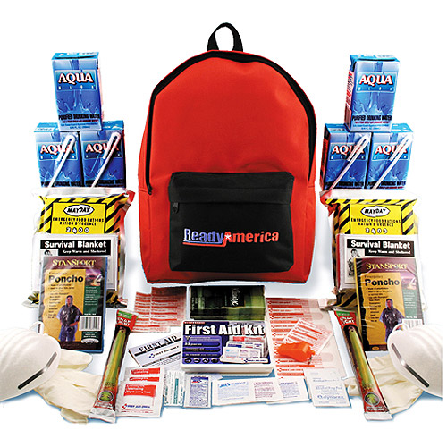 Grab 'N Go 3-Day, 2 Person Emergency Kit with Backpack