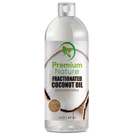 Fractionated Coconut Oil Skin Moisturizer - Natural & Pure Carrier Oil Massage Oil Skin Moisturizer Therapeutic Odorless - for Skin & Hair 16 Oz Clear Premium (Pure Coconut Oil For Hair And Skin)